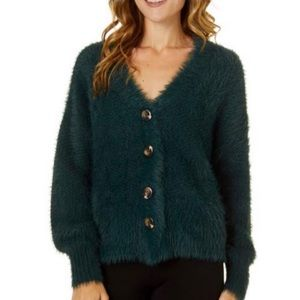 Willow & Clay   Forest Green textured Cardigan   S